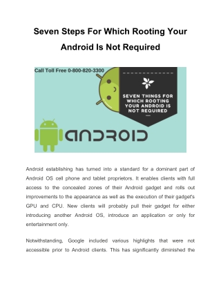 Seven Steps For Which Rooting Your Android Is Not Required (GTS)