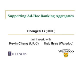 Supporting Ad-Hoc Ranking Aggregates