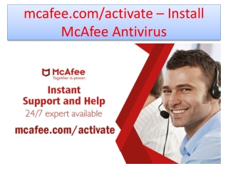 McAfee.com/activate | McAfee protects all types of devices and PC