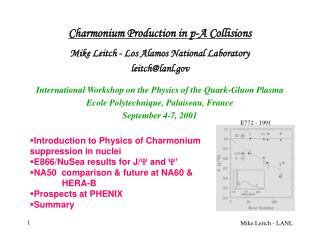 Charmonium Production in p-A Collisions