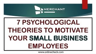 7 psychological theories to motivate your small business employees