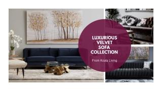 Velvet Sofa Collection from Koala Living