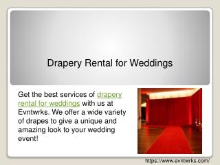 Drapery Rental for Weddings