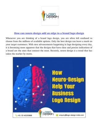 How can neuro design add an edge to a brand logo design?