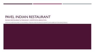 Indian Restaurant & Takeaway | Kemptown, Brighton