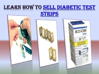 Sell Diabetic Test Strips