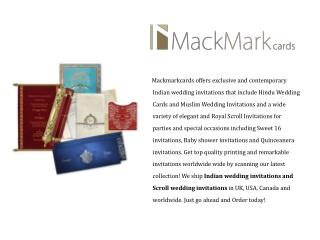 MackmarkCards - Indian Wedding Invitations & Cards | Scroll Wedding Invitations