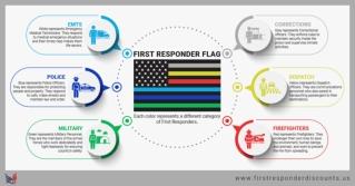 First responders, emt discount, first responder flag, firefighter flag, emt flag, paramedic flag,