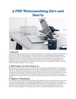 Watermark PDF online