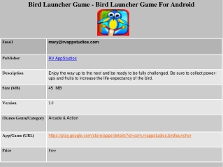 Bird Launcher Game - Bird Adventure Game for Android