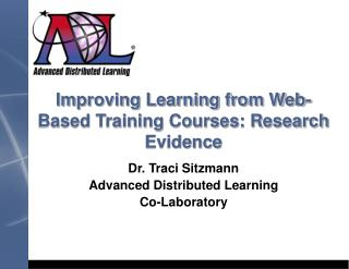 Improving Learning from Web-Based Training Courses: Research Evidence