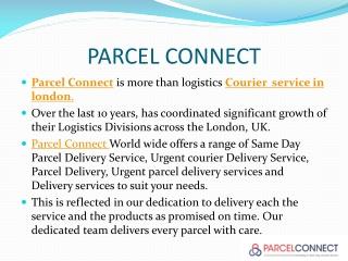 Parcel Delivery | Urgent parcel delivery service | Delivery service