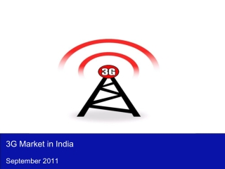 3G Market in India 2011
