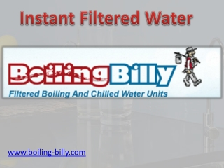 Instant Filtered Water