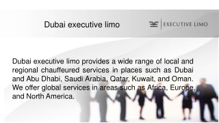 Dubai executive limo