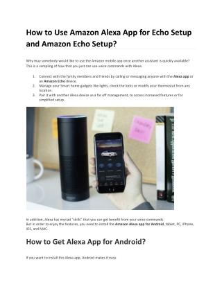 Free Guides to Download Alexa App and Alexa App Setup