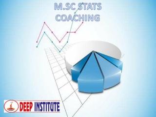 Best Coaching for msc STATS | Learn MSC Stat