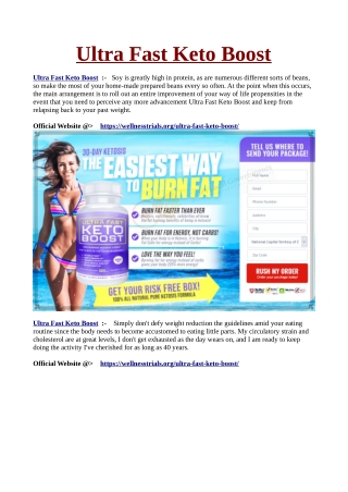 Ultra Fast Keto Boost : Natural Weight Loss Formula For Desirable ...