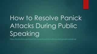 How to Resolve Panick Attacks During Public Speaking