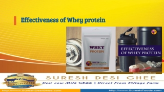 Effectiveness of Whey Protein