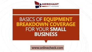 Basics of equipment breakdown coverage for your small business