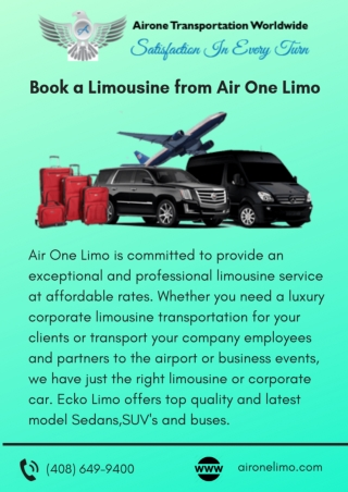 Book a Limousine from Air One Limo