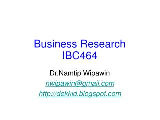 Business Research IBC464