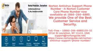Norton Antivirus Support Phone Number