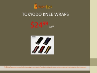 "Tokyodo Knee Wraps with Compression & Elastic Support, Adjustable, 72"" Long, 3"" wide - $24.99"