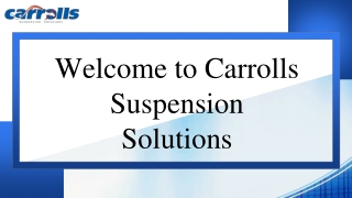Best Deal on Suspension Parts in Australia | Carrolls Suspension Solutions