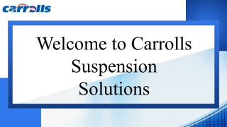 Best Spring Suppliers Online in Sydney | Carrolls Suspension Solutions