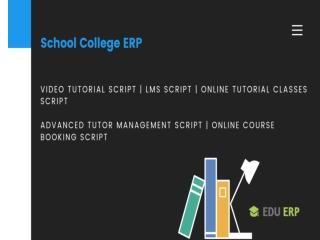 Advanced Tutor Management Script | Online Course Booking script
