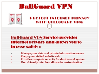 Protect Internet Privacy with BullGuard VPN: