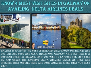 Know 4 Must-visit sites in Galway on availing Delta Airlines Deals