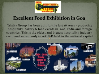 Excellent Food Exhibition in Goa