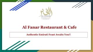 Al Fanar Restaurant & Cafe in Kensington, London