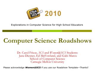 Explorations in Computer Science for High School Educators