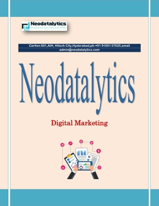 Experience Digital Excellence with Our Brilliant Digital Marketing Tactics – Neodatalytics