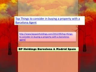 BP Holdings Barcelona & Madrid Spain
