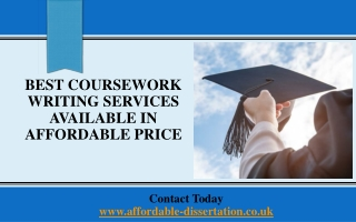 Best Coursework Writing Services Available in Affordable Price