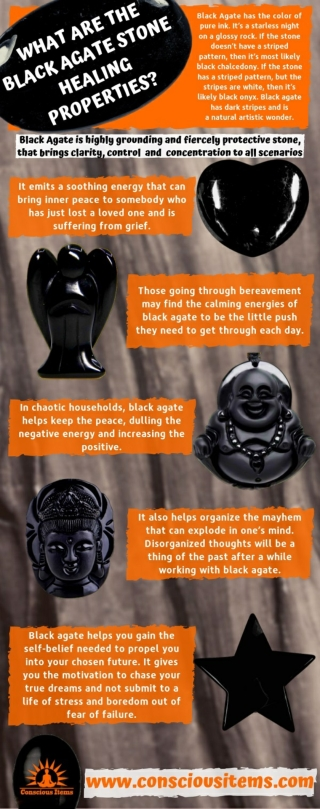 What are the Black Agate Stone Healing Properties?