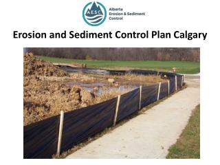Erosion and Sediment Control Plan Calgary