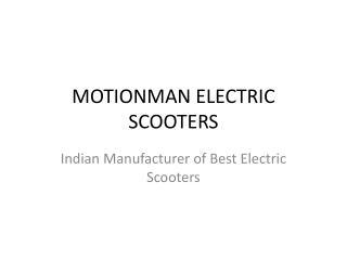 Motionman Electric Scooters