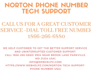 Norton Antivirus Support Phone Number