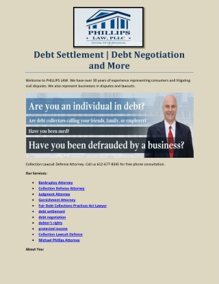 Fair Debt Collections Practices Act Lawyer