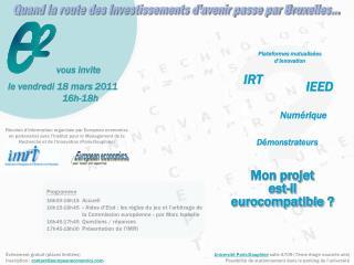 Université Paris-Dauphine  salle A709 (7ème étage nouvelle aile) Possibilité de stationnement dans le parking de l'unive