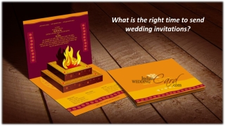 What is the right time to send wedding invitations?