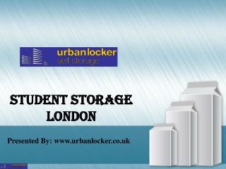 Student storage London | Urbanlocker