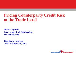 Pricing Counterparty Credit Risk  at the Trade Level