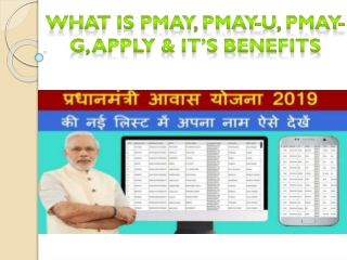What Is PMAY, PMAY-U, PMAY-G, Apply & It's Benefits